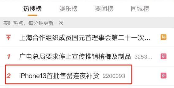 中国用户把苹果官网买崩了 iPhone13秒光连夜补货